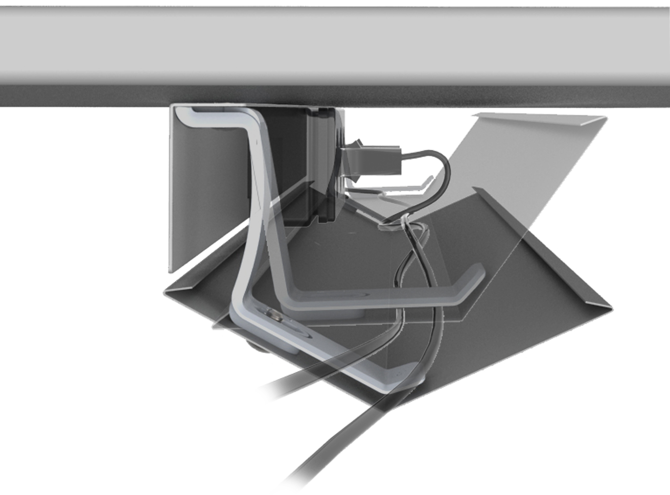Under Desk Cable Management Cradle Tray Buy Online Box15