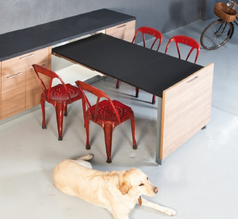 EVOLUTION Pull Out Table | 1000mm | Frame Only. U2039 U203a