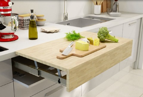 Opla Top Pull Out Worktop Surface Box15