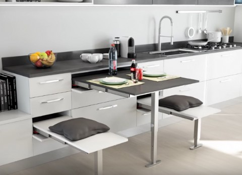 T ABLE Pull Out Table | 600mm Wide X 900mm Extension | With Top