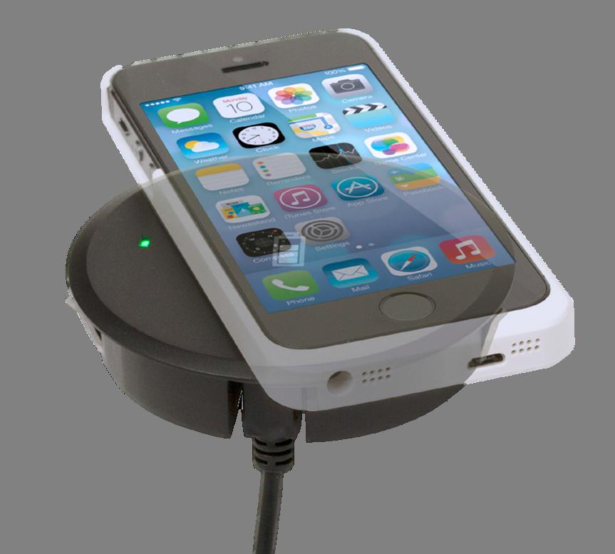 wireless smartphone charger grommet buy online box15. Black Bedroom Furniture Sets. Home Design Ideas